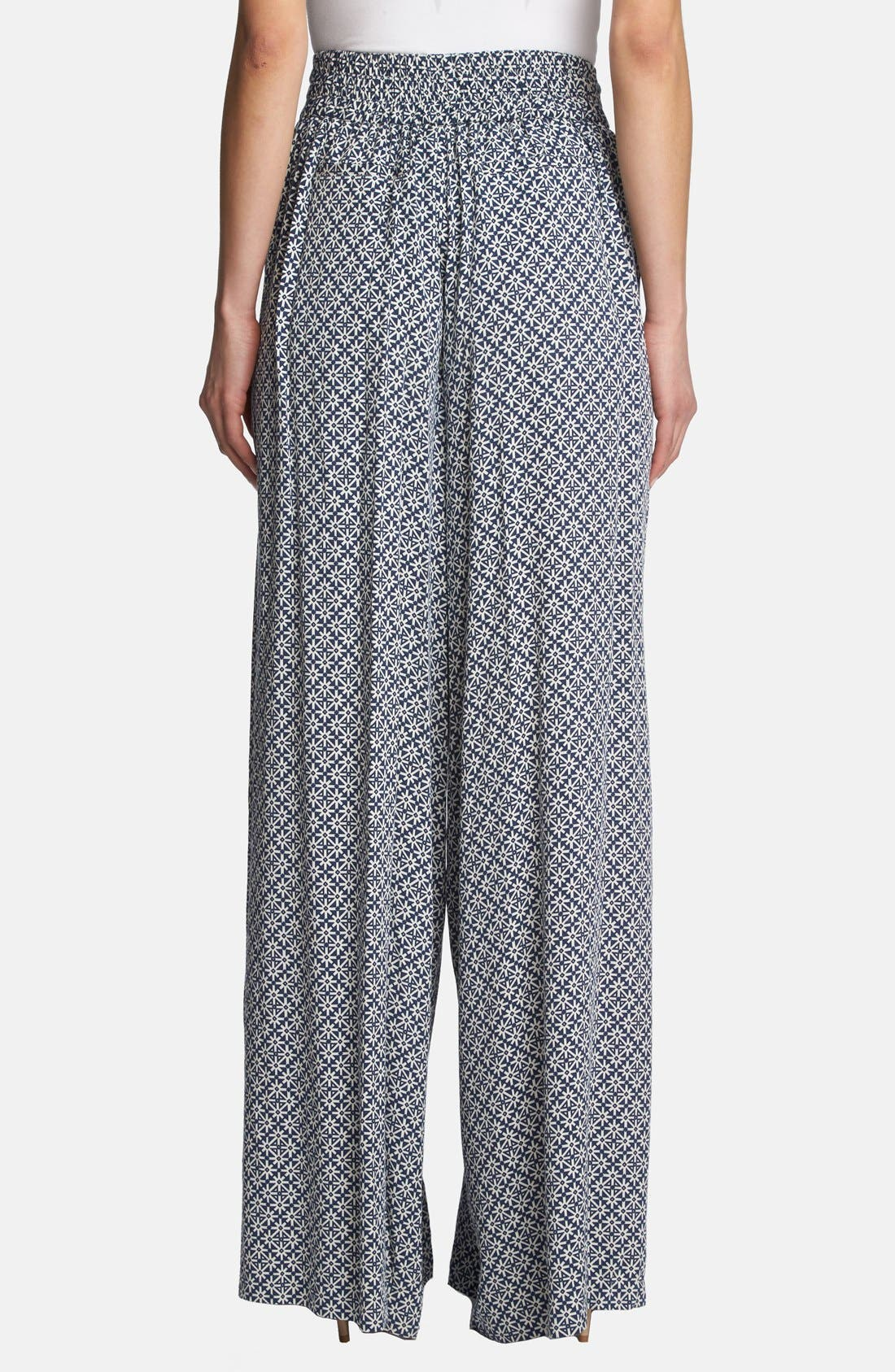 Alternate Image 2  - 1.STATE High Rise Wide Leg Print Trousers