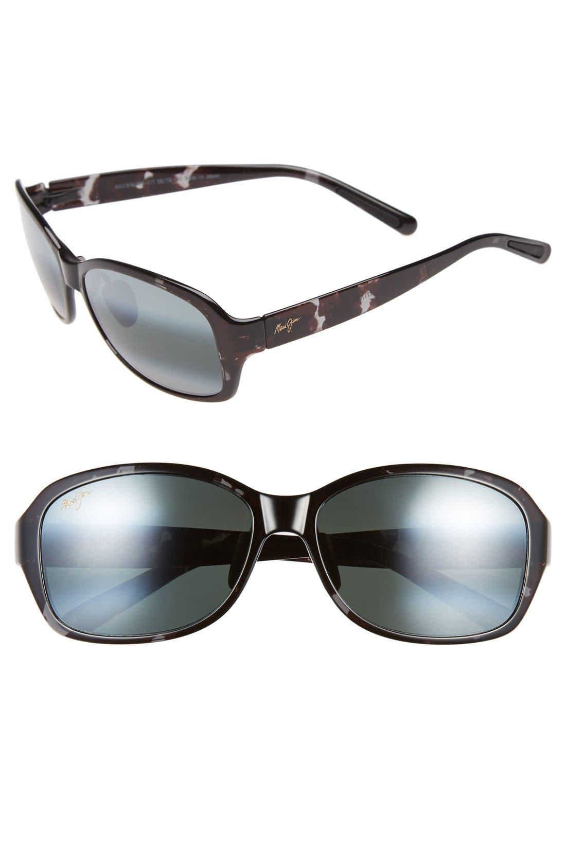 Koki Beach 56mm PolarizedPlus2<sup>®</sup> Sunglasses,                         Main,                         color, Black And Grey Tortoise/ Grey