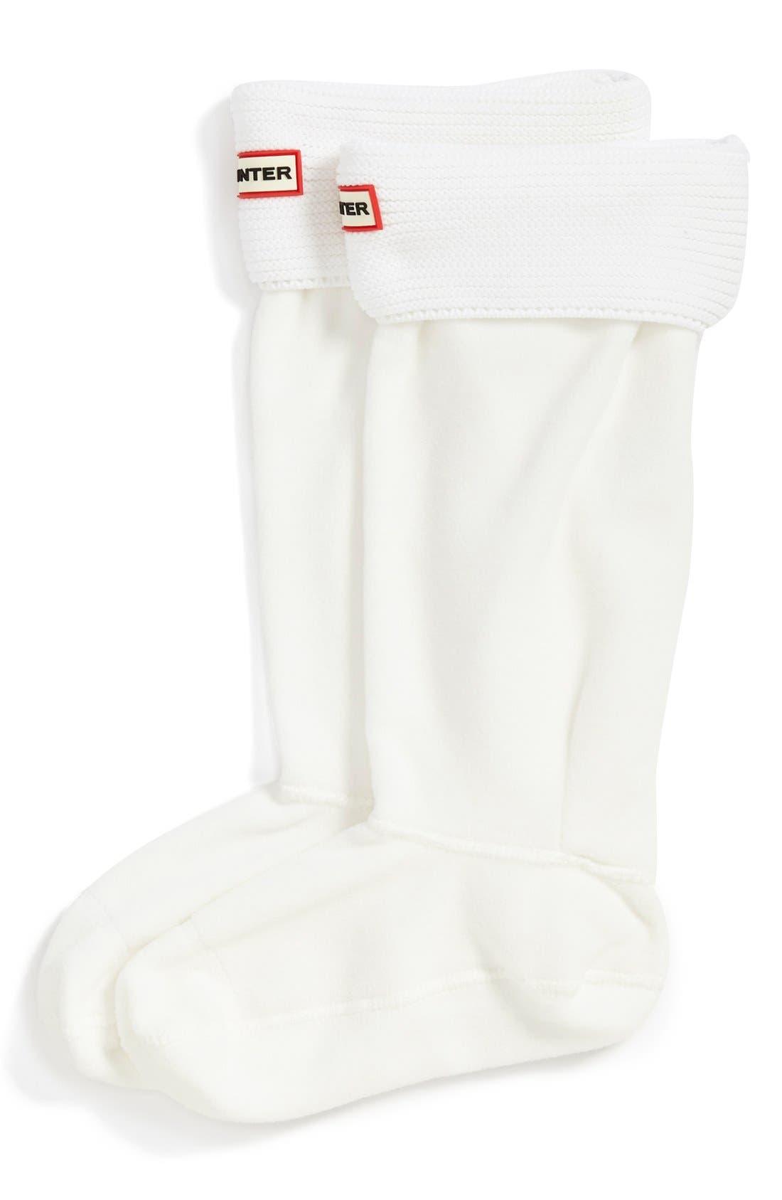 Main Image - Hunter 'Garter Cuff' Fleece Boot Socks  (Nordstrom Exclusive)
