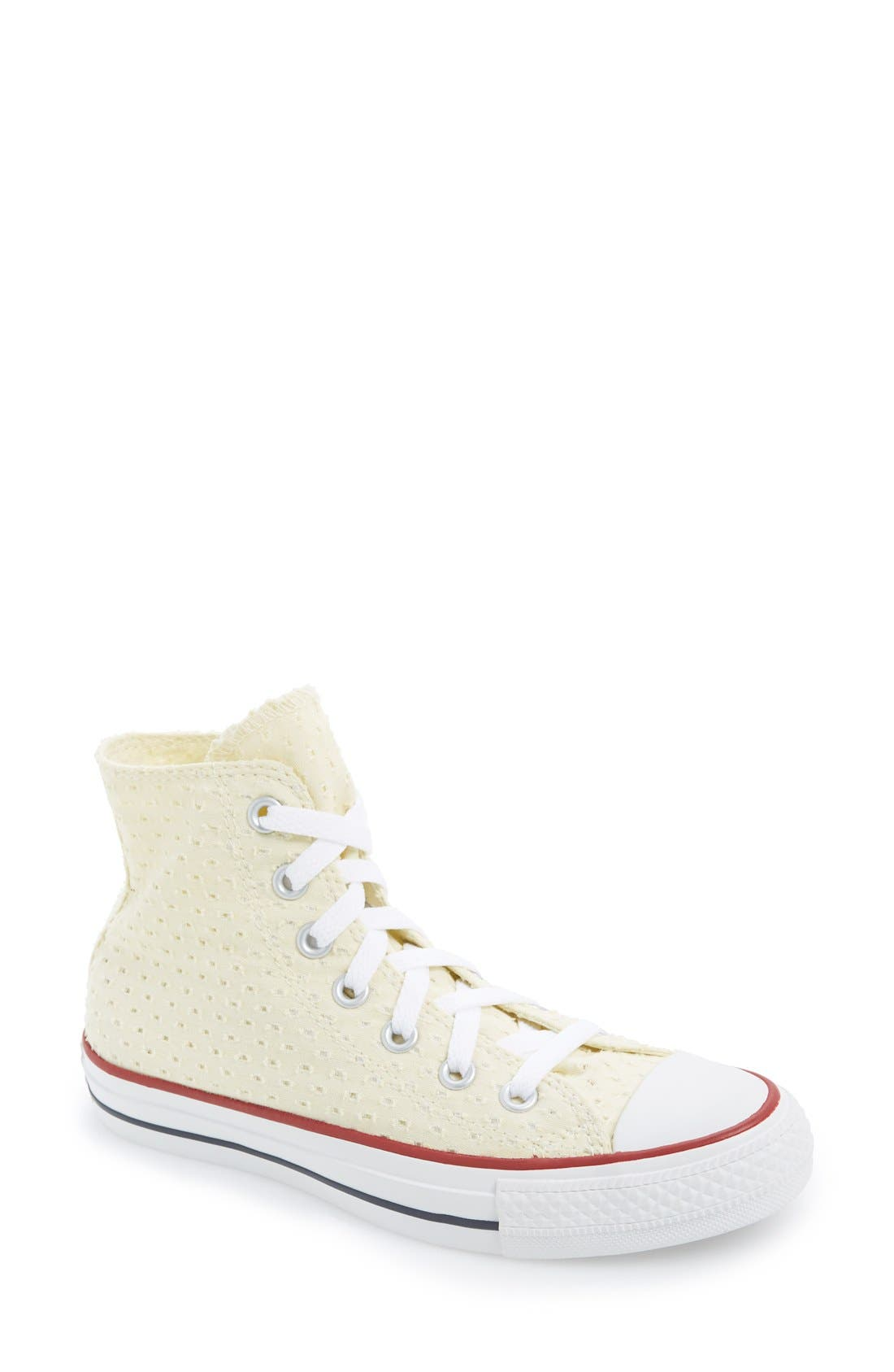 Alternate Image 1 Selected - Converse Chuck Taylor® All Star® Eyelet Perforated High Top Sneaker (Women)