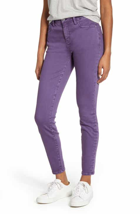 WASH LAB Mid Rise Skinny Jeans (Purple Gem)