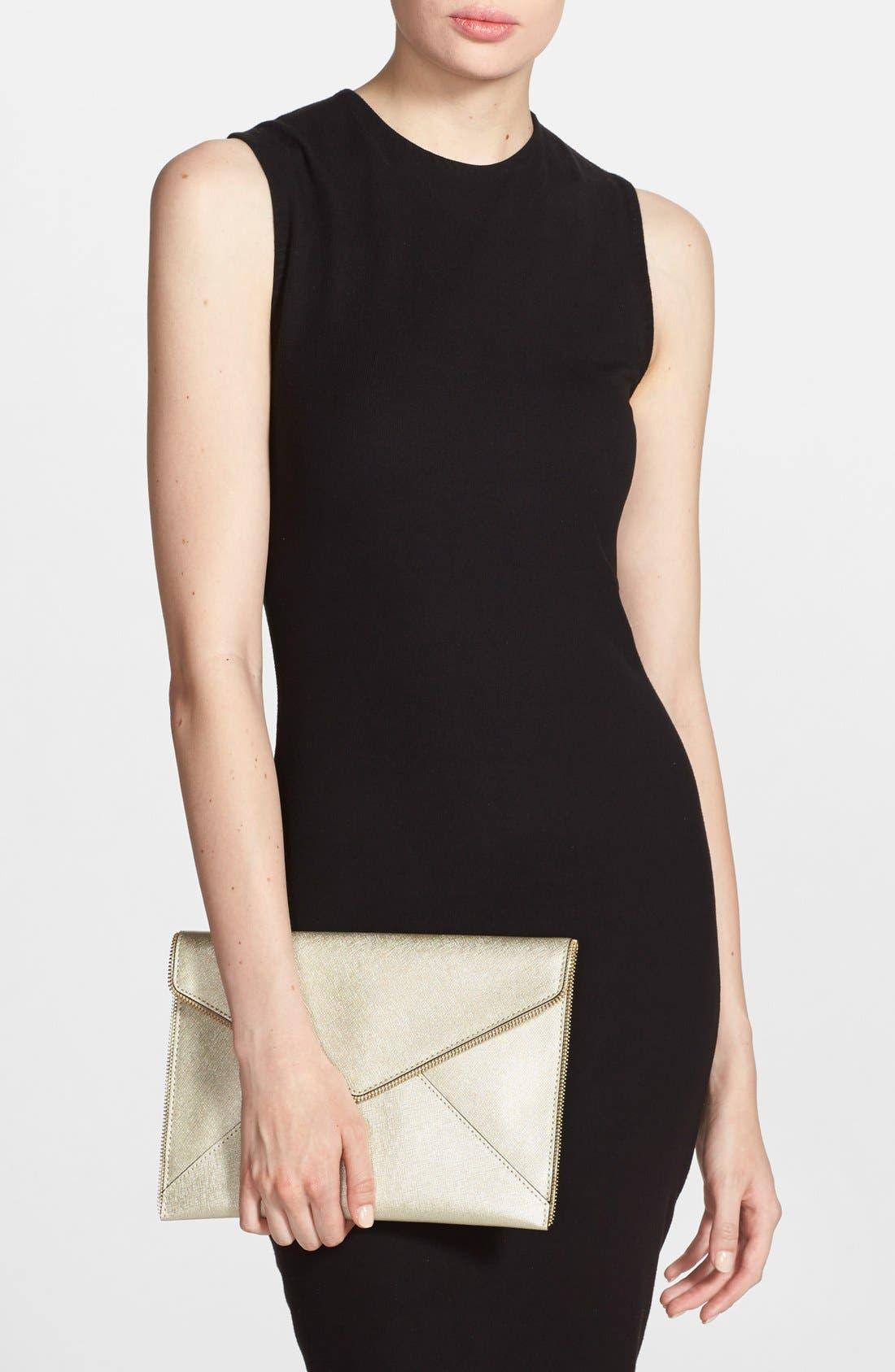 Alternate Image 2  - Rebecca Minkoff 'Leo' Saffiano Leather Envelope Clutch