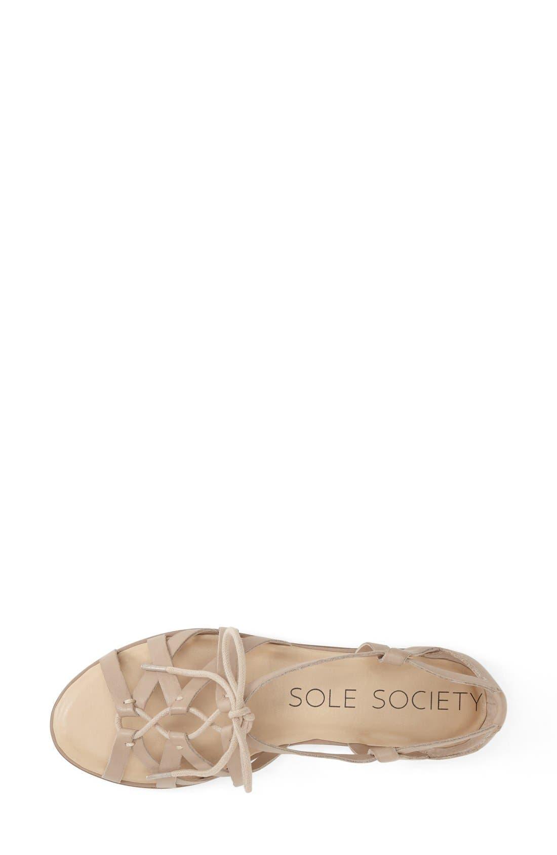 'Gillian' Gladiator Sandal,                             Alternate thumbnail 3, color,                             Nomad