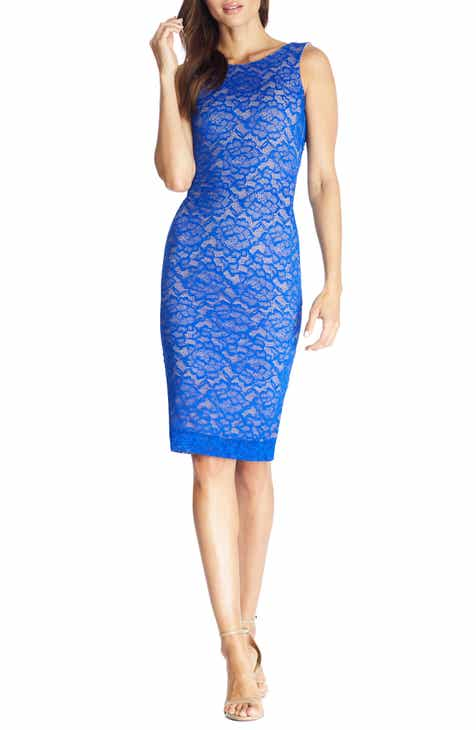 Dress the Population Kendra Embroidered Lace Body-Con Dress