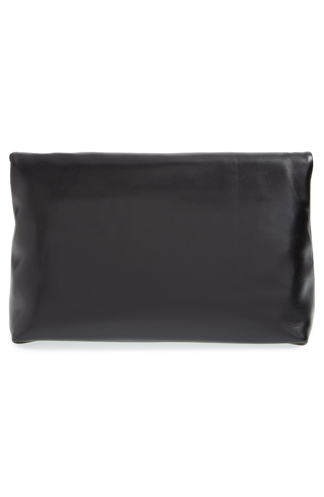 Alternate Image 4  - MICHAEL Michael Kors 'Daria' Leather Foldover Clutch