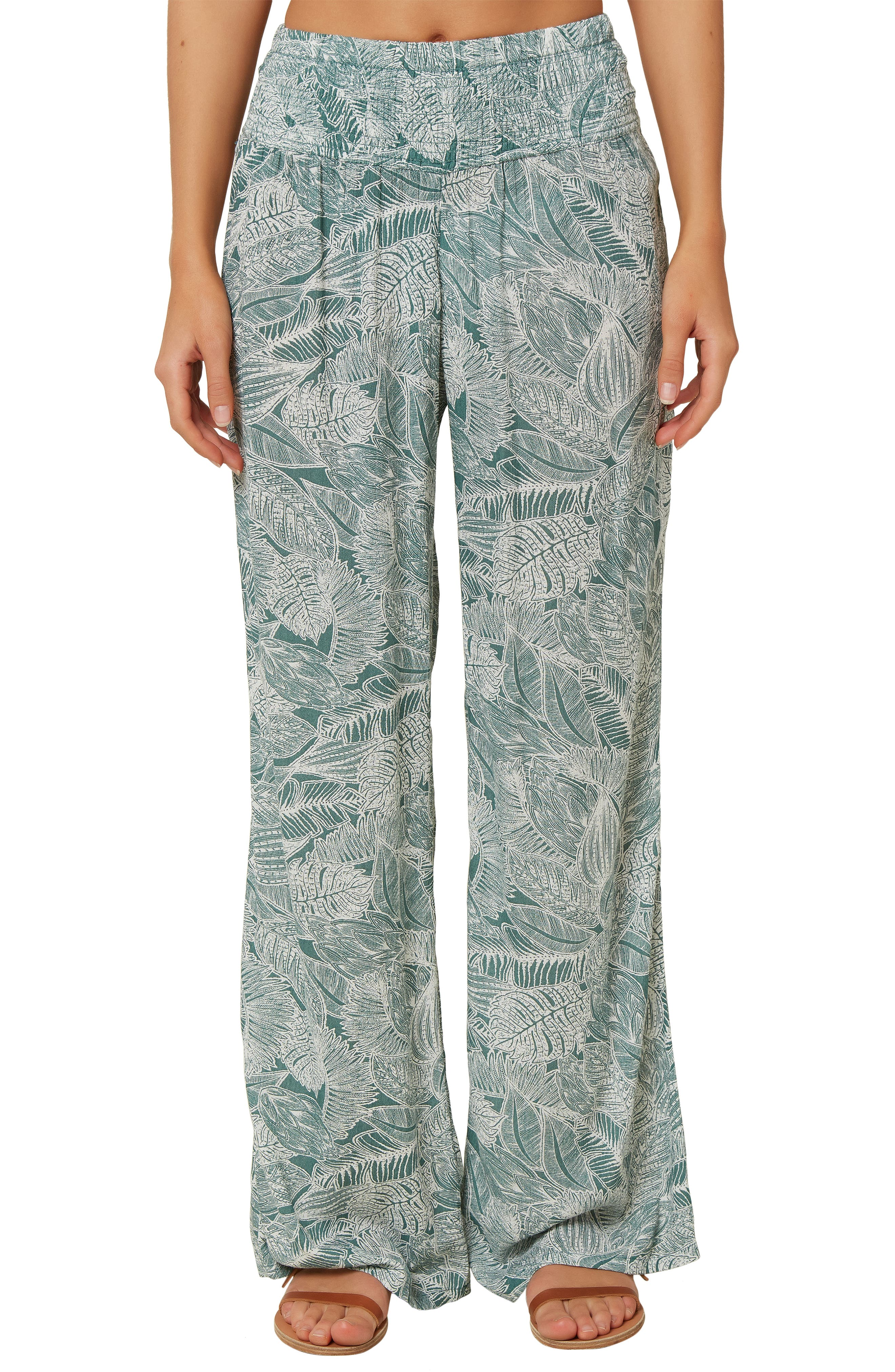 ONEILL Womens Wovens Enid Wide Leg Pants Swim Cover Up