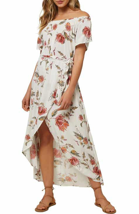 O'Neill Conners Off the Shoulder Midi Dress