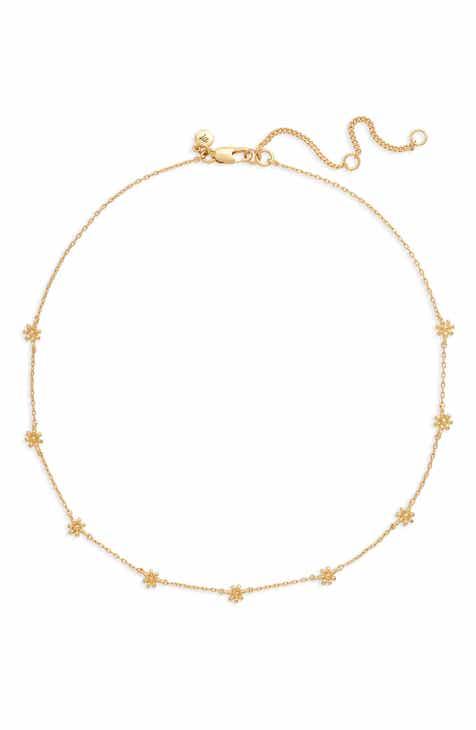 Madewell Tiny Flowers Choker Necklace