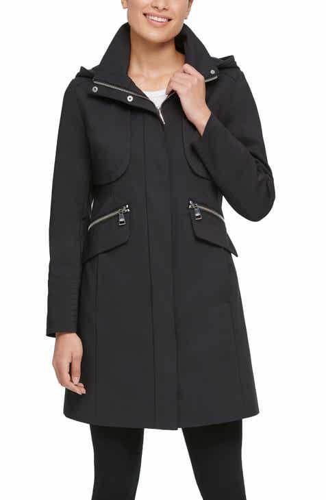 Karl Lagerfeld Paris Hooded Officer Coat
