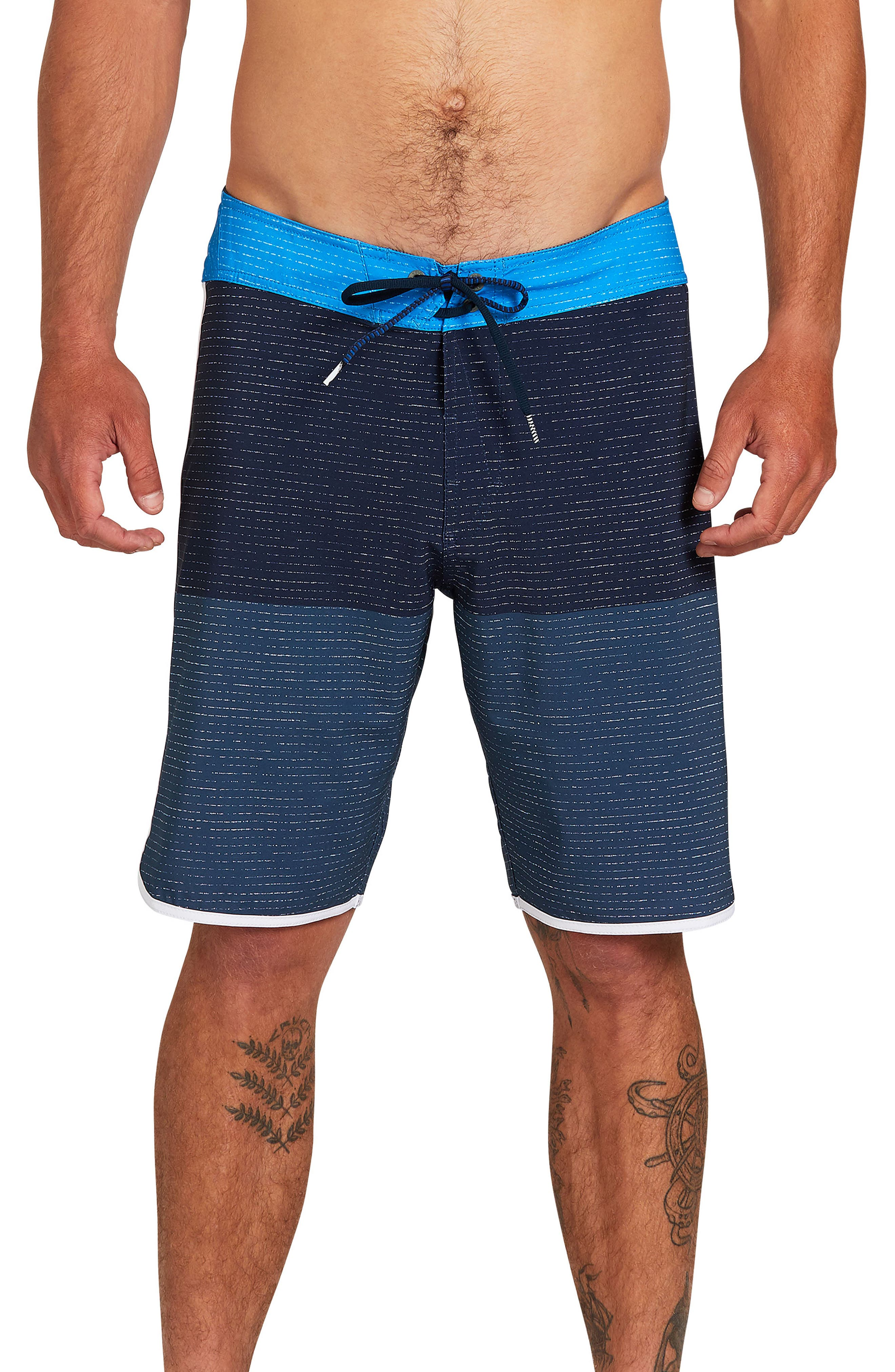 Mens Swim Trunks Quick Dry Summer Holiday Beach Shorts with Mesh Lining Stylish Watercolor Cactus Pink Flowers Beachwear