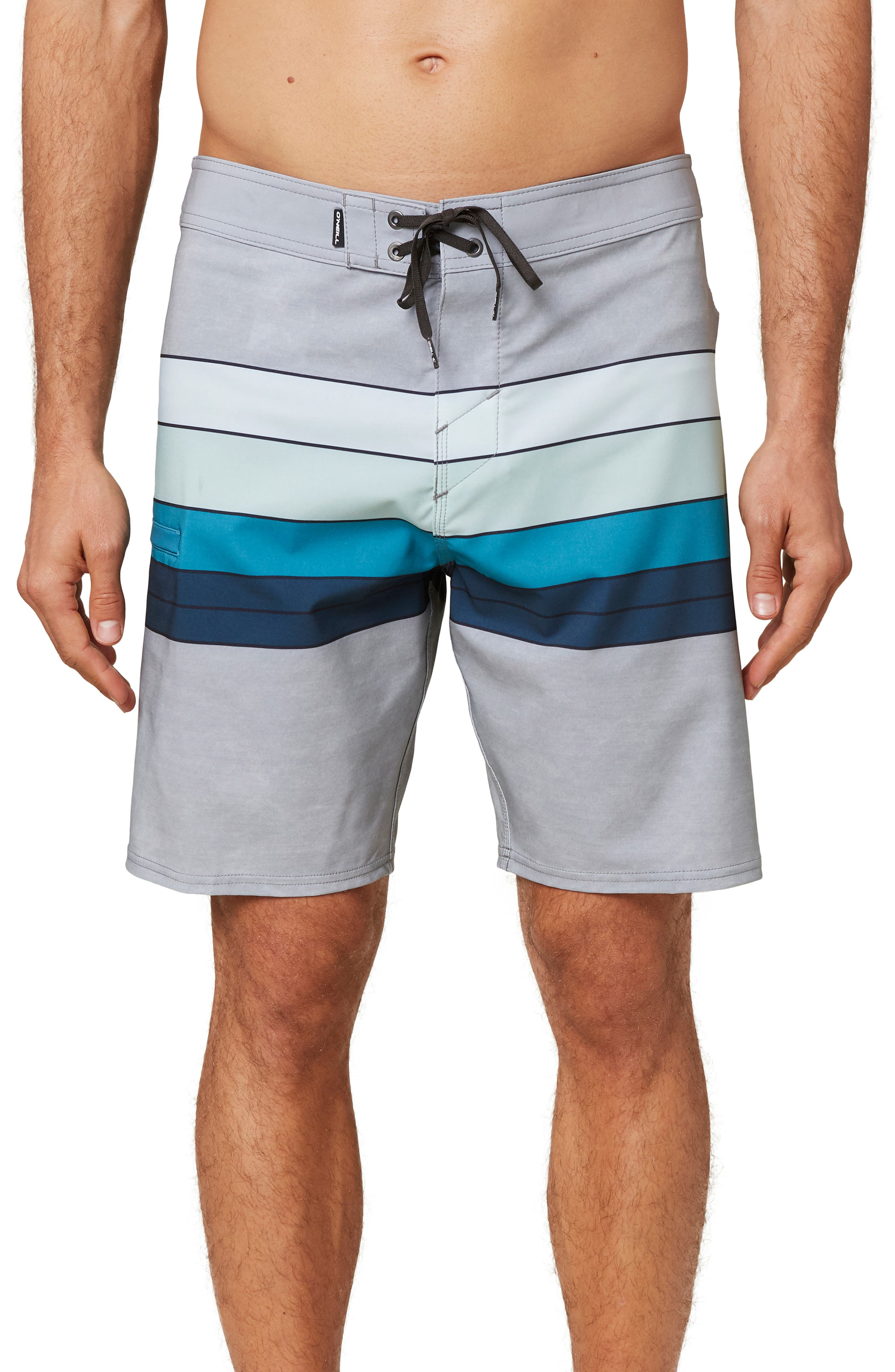 Mens Bags Rainbow Stripes Quick Drying Ultra Light Short Pants Swim Trunks