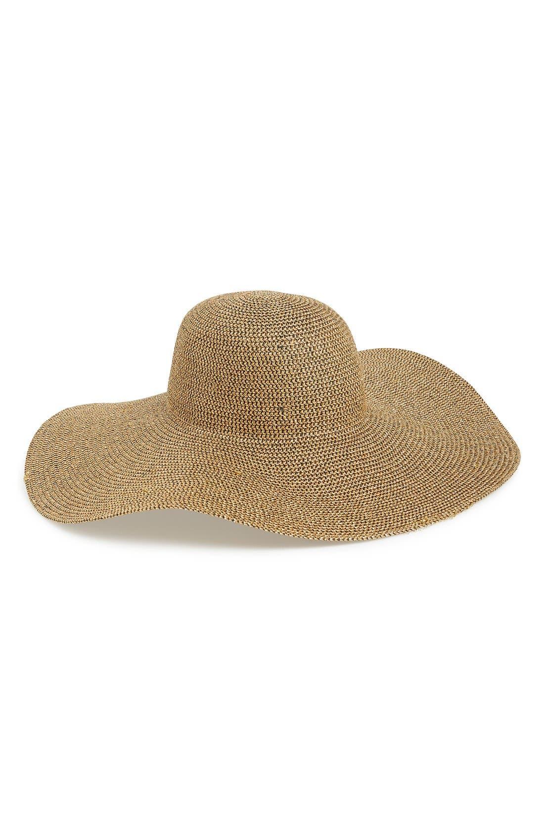Main Image - Phase 3 Metallic Floppy Straw Hat