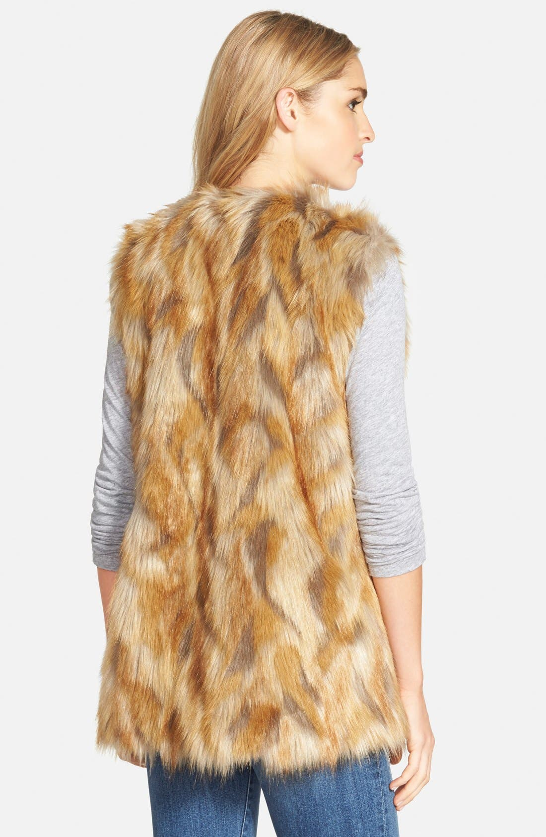 Alternate Image 2  - Bernardo Retro Patchwork Faux Fur Vest