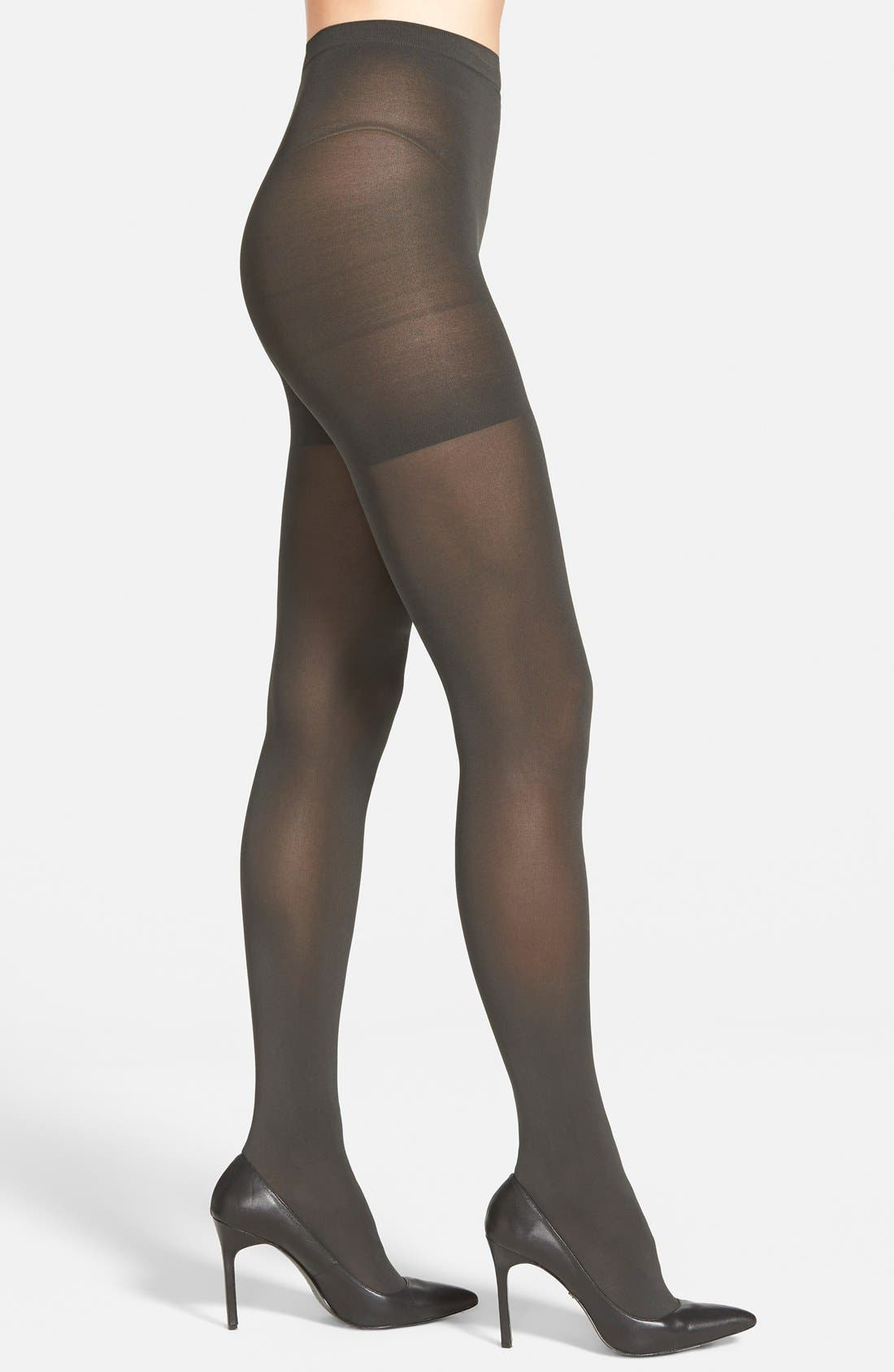'Tight End' Shaping Tights,                         Main,                         color, Charcoal