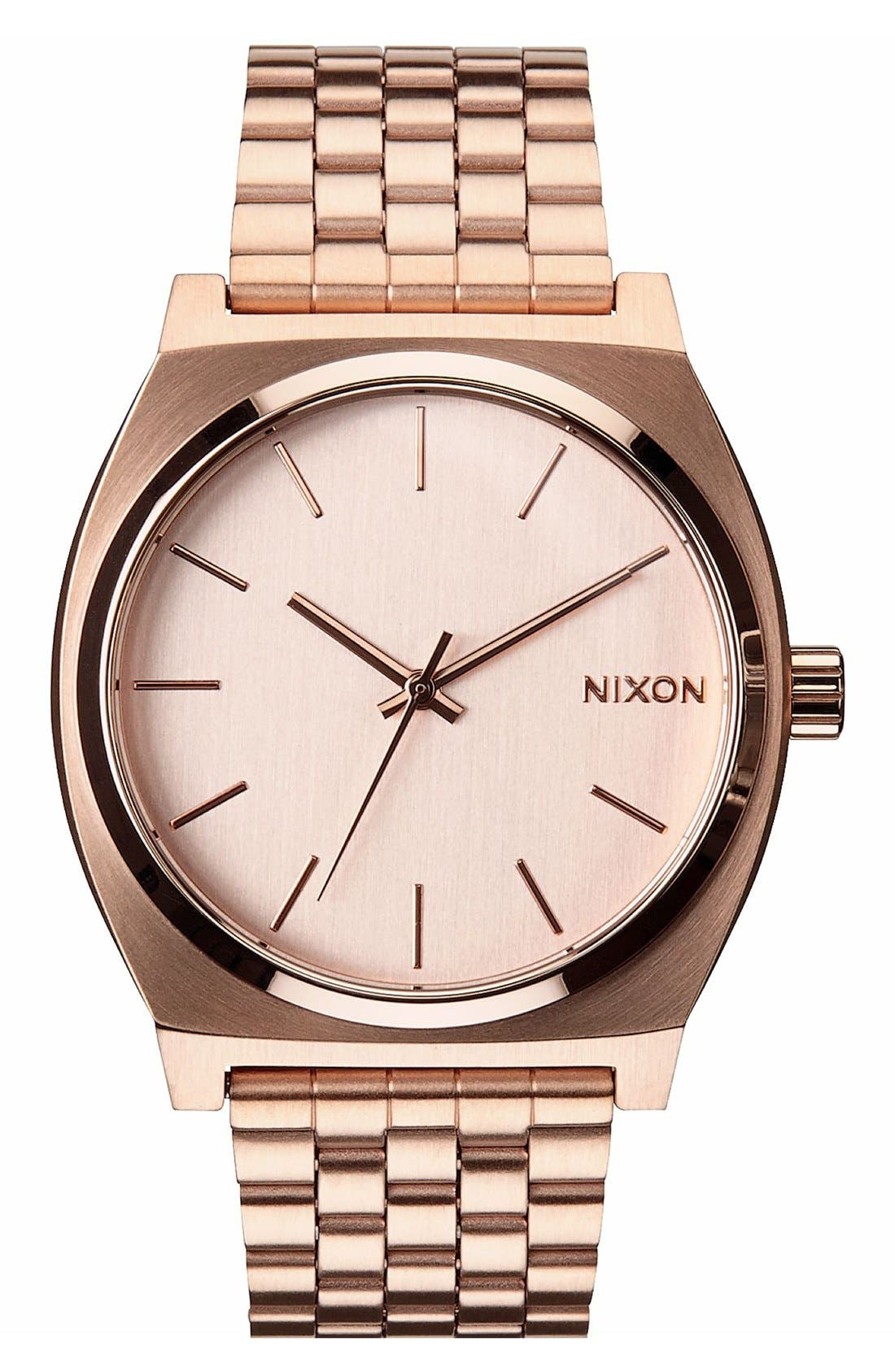 'The Time Teller' Watch, 37mm,                             Main thumbnail 1, color,                             Rose Gold