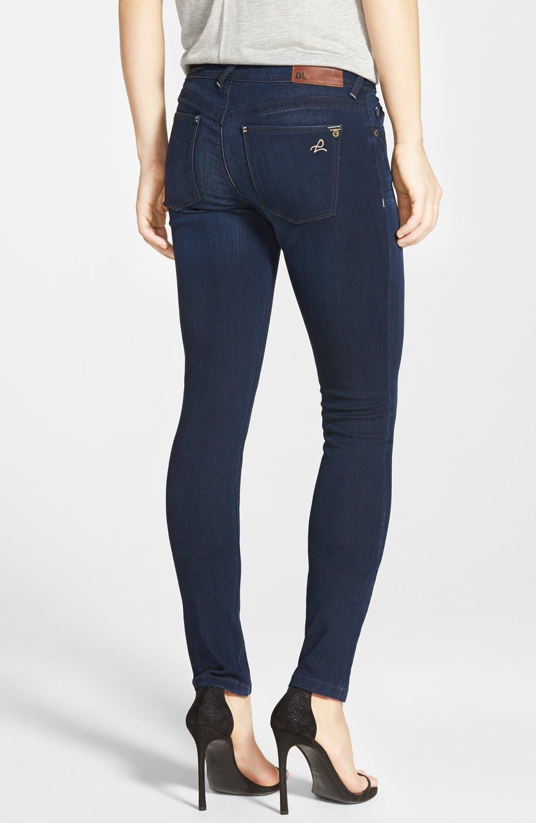 Alternate Image 2  - DL1961 'Amanda' Skinny Jeans (Moscow)