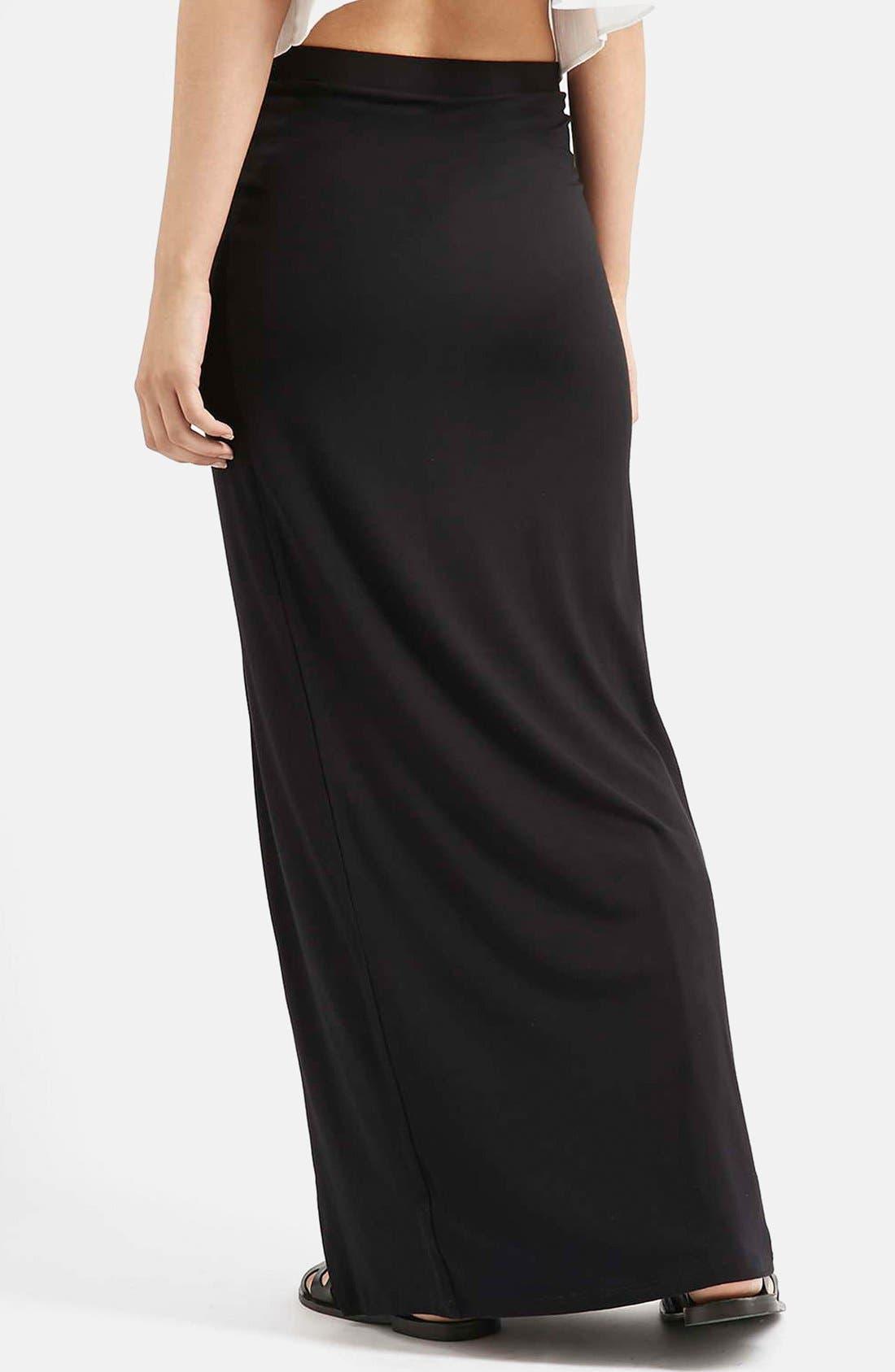 Alternate Image 2  - Topshop Slit Maxi Skirt