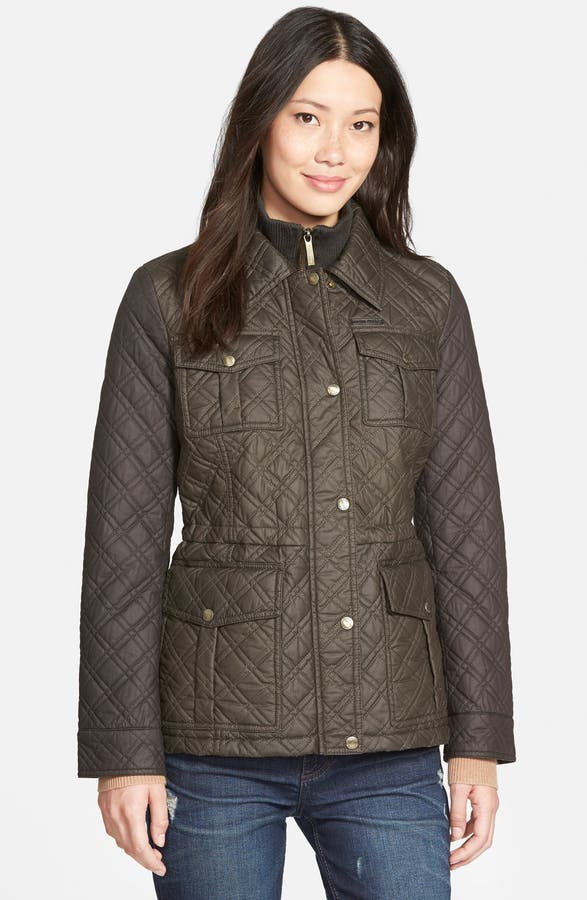 Michael Michael Kors Quilted Field Jacket With Bib Inset Nordstrom