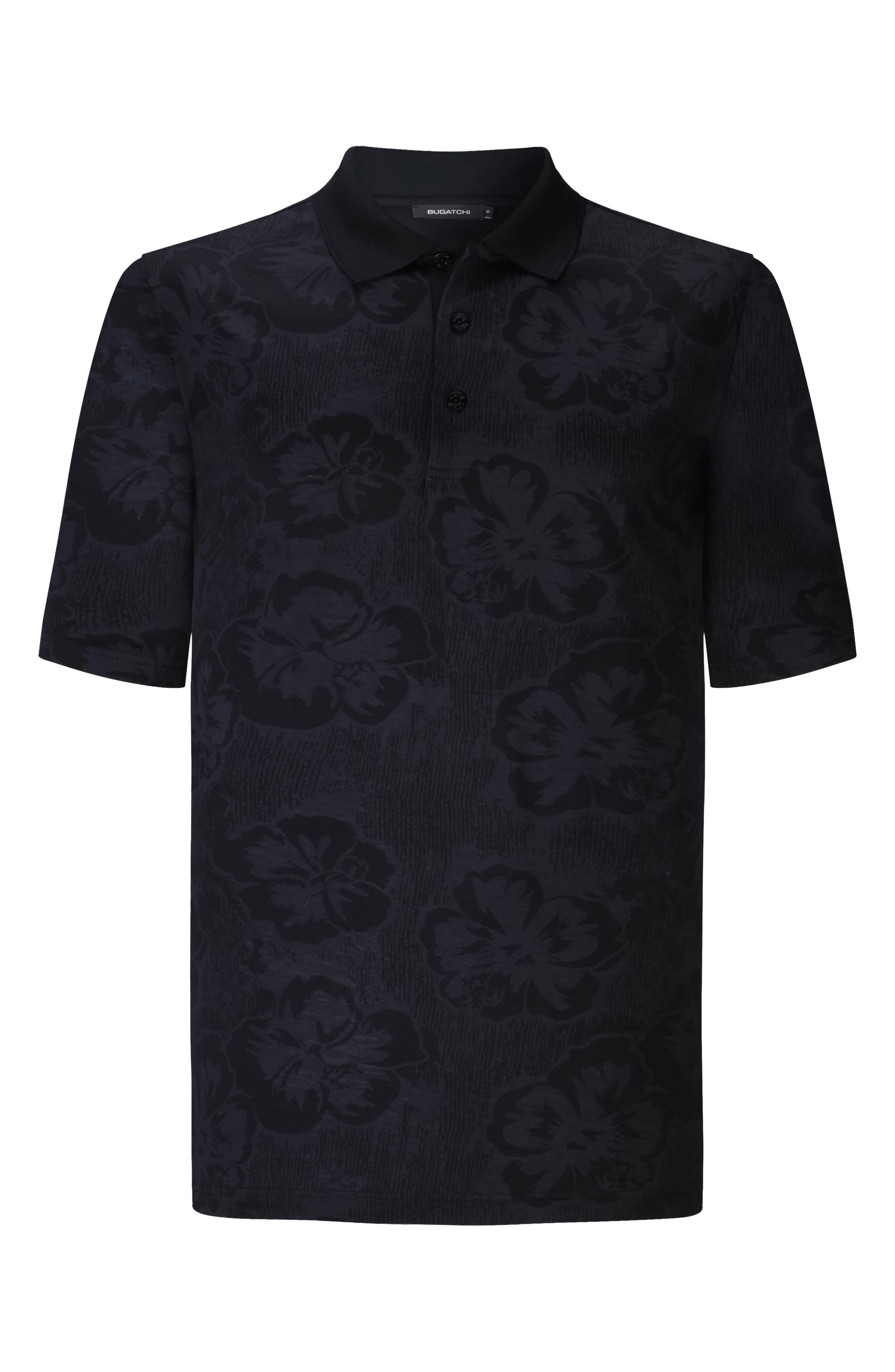 Marine//White French Connection Mercerised Tipped Polo Shirt