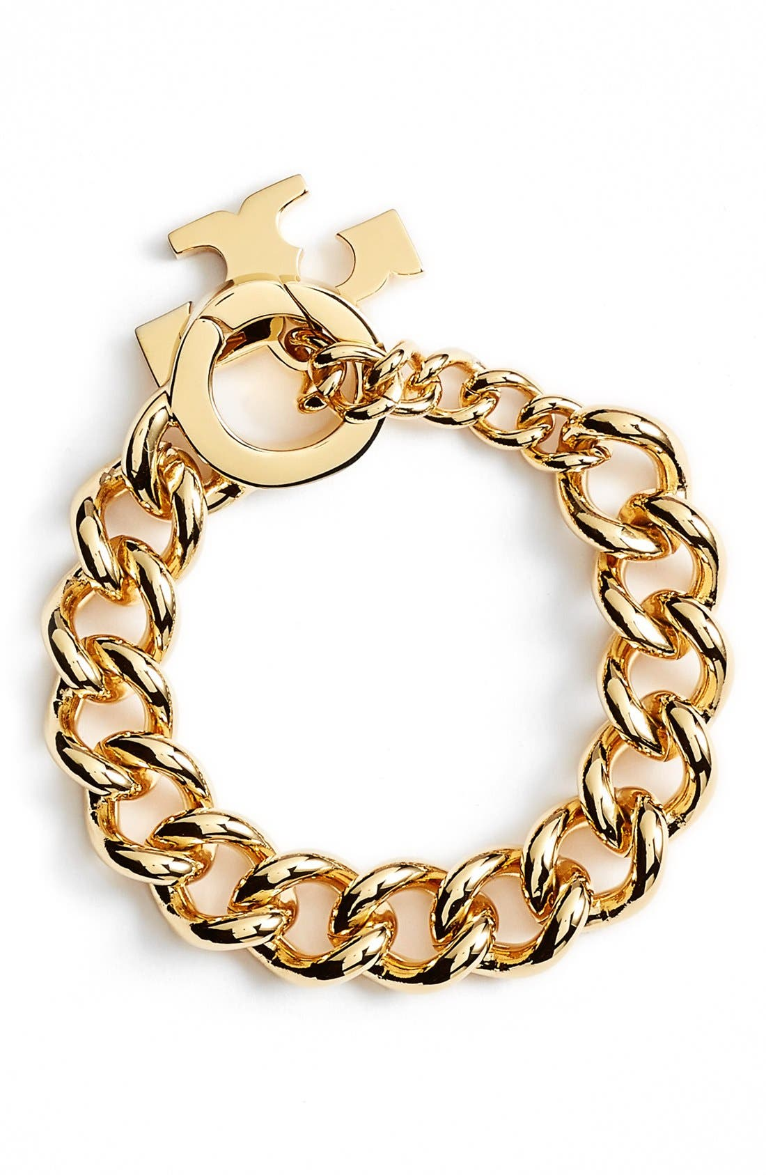 Alternate Image 1 Selected - Tory Burch Logo Toggle Chain Bracelet
