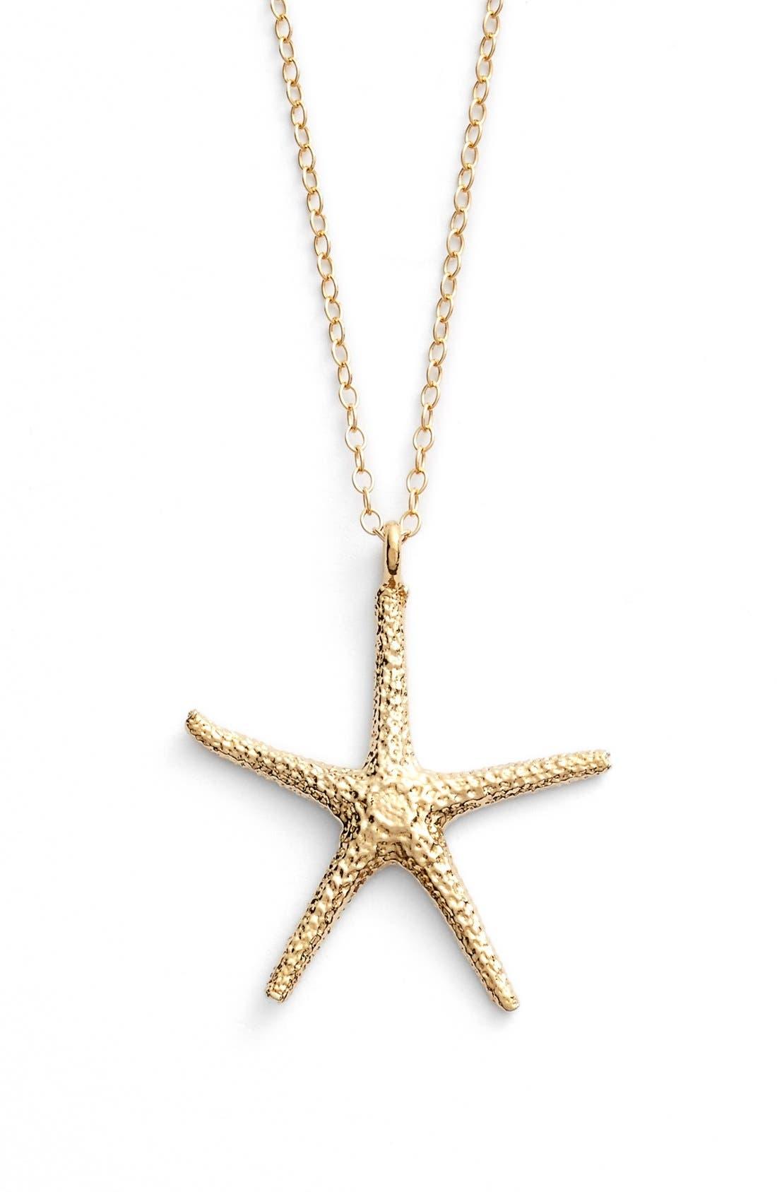 Alternate Image 1 Selected - ki-ele Large Hawaiian Starfish Pendant Necklace