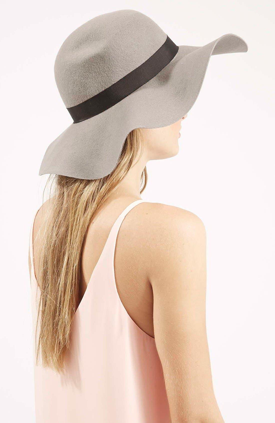 Floppy Wool Felt Hat,                             Alternate thumbnail 2, color,                             Grey
