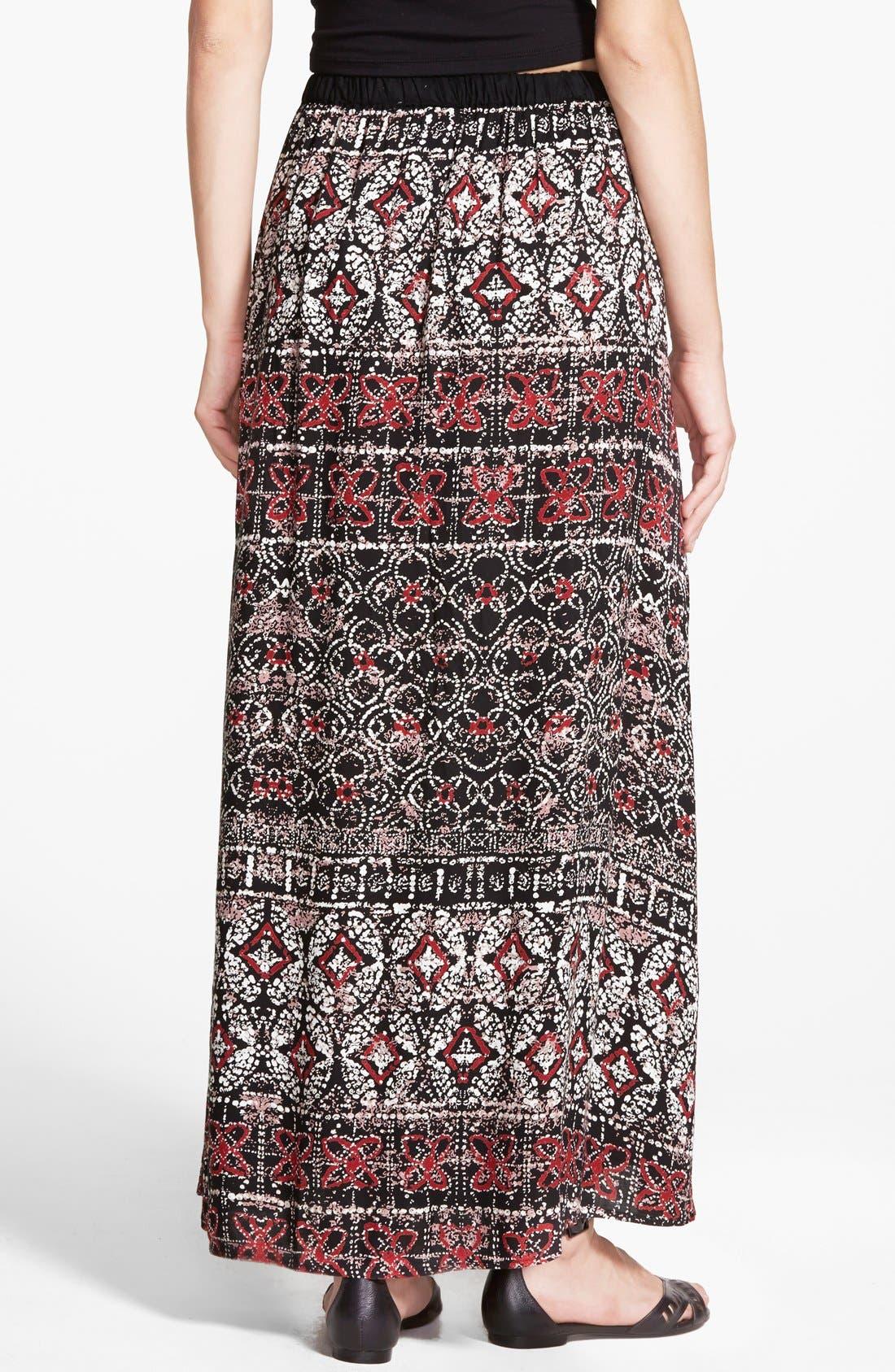 Alternate Image 2  - Angie Mixed Print Maxi Skirt (Juniors)