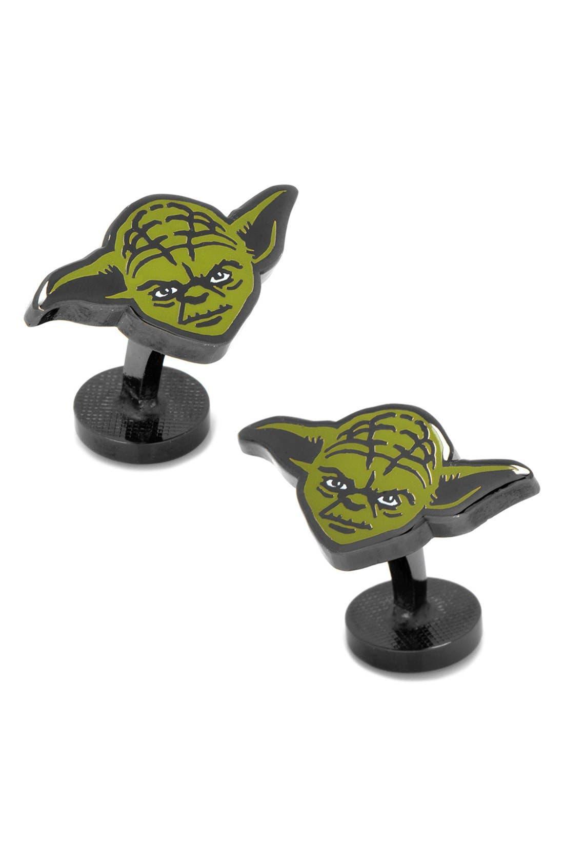 'Star Wars - Yoda' Cuff Links,                         Main,                         color, Green/ Black