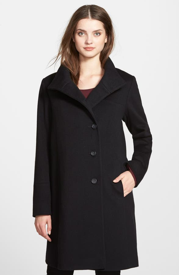 Fleurette Wool Stand Collar Car Coat (Regular & Petite) | Nordstrom