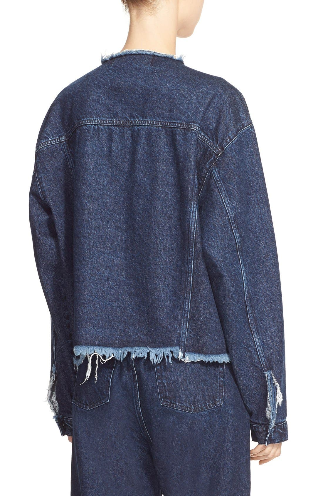 Alternate Image 2  - Marques'Almeida Collarless Denim Jacket