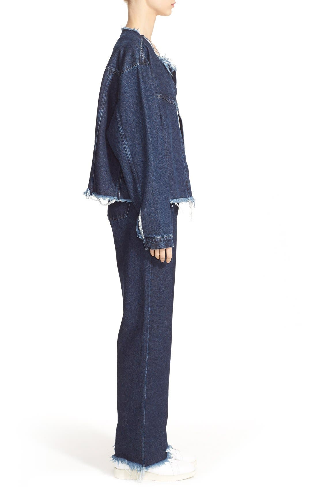 Alternate Image 5  - Marques'Almeida Collarless Denim Jacket