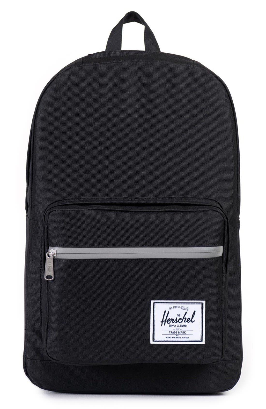 'Pop Quiz' Backpack,                             Main thumbnail 1, color,                             Black/ 3M