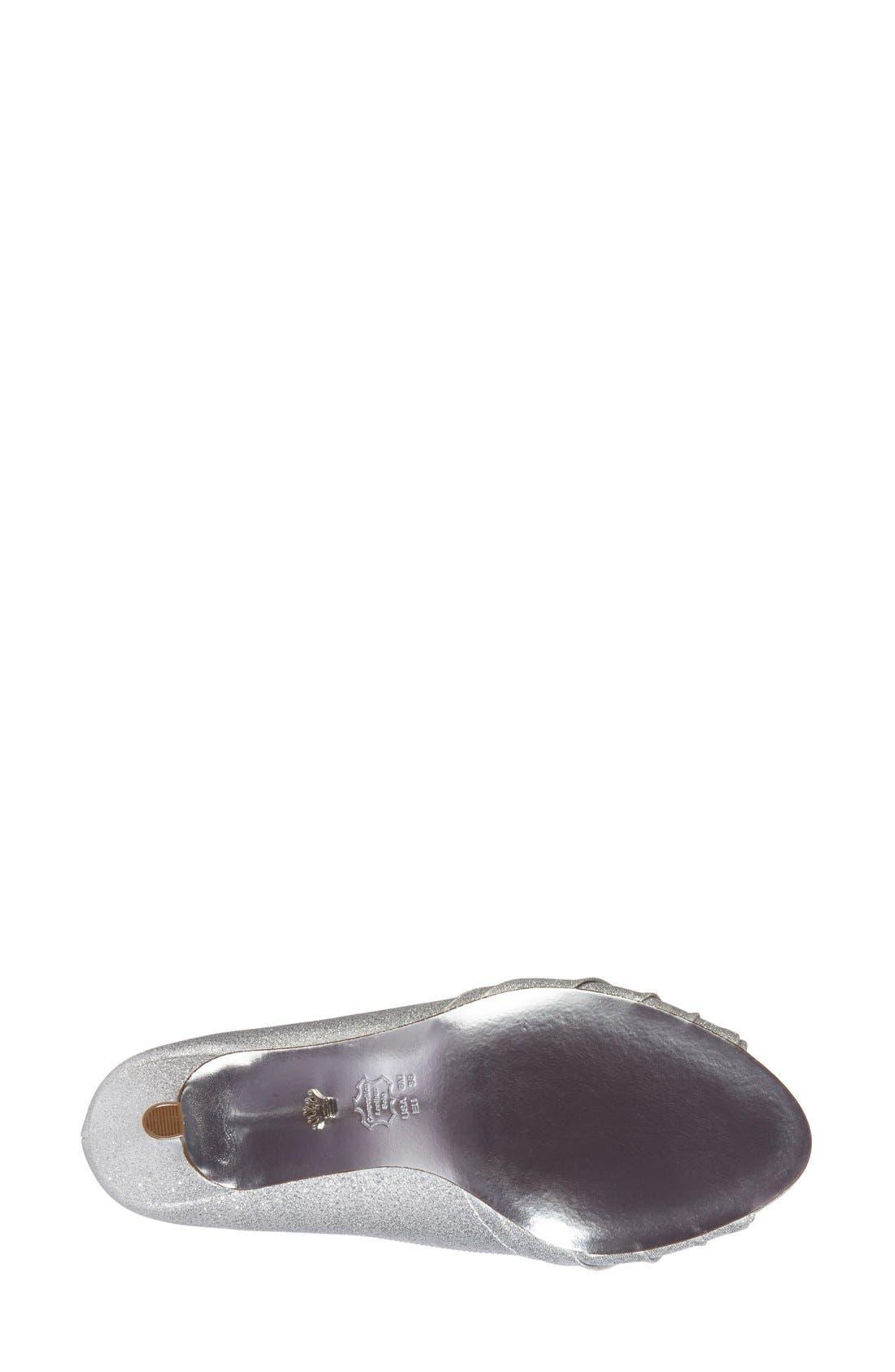 Alternate Image 4  - Nina 'Carolyn' Peep Toe Pump (Women)