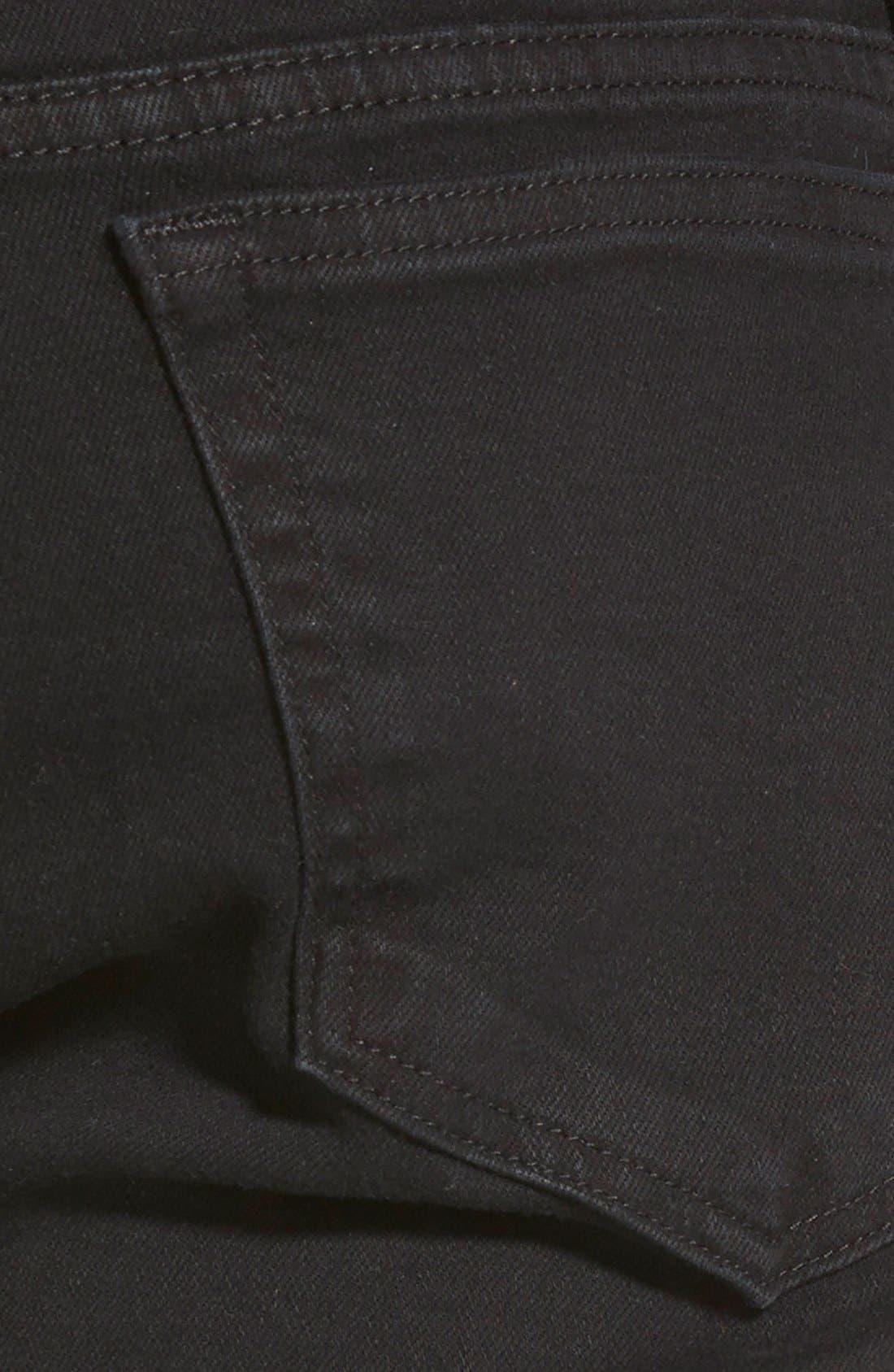 Alternate Image 4  - FRAME 'L'Homme' Skinny Fit Jeans (Noir)
