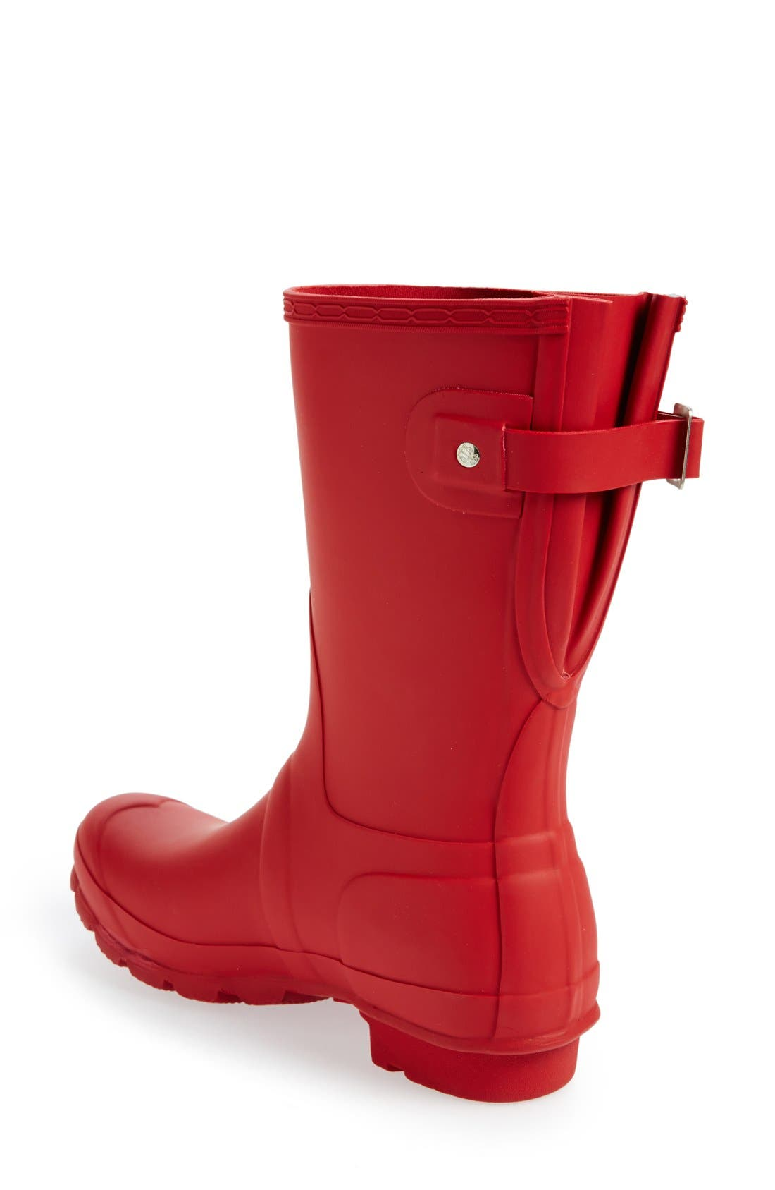 Original Short Back Adjustable Rain Boot,                             Alternate thumbnail 3, color,                             Military Red