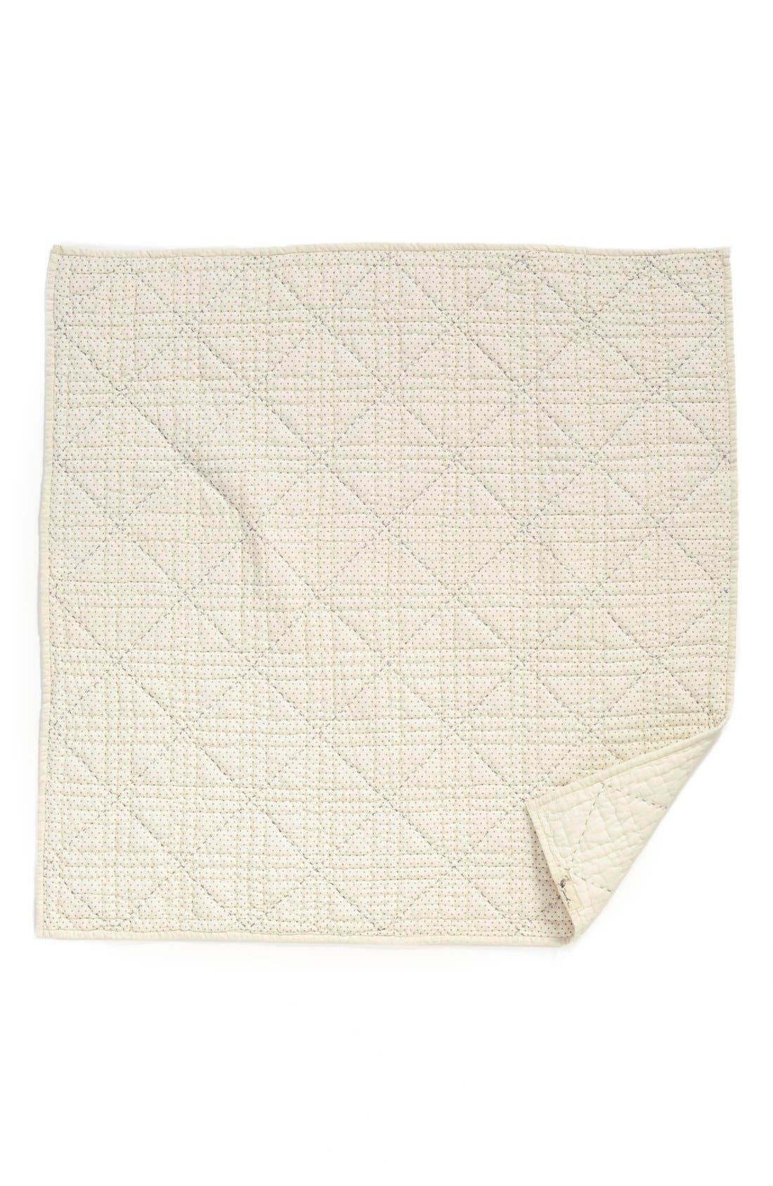 Stork Baby Blanket,                         Main,                         color, Grey