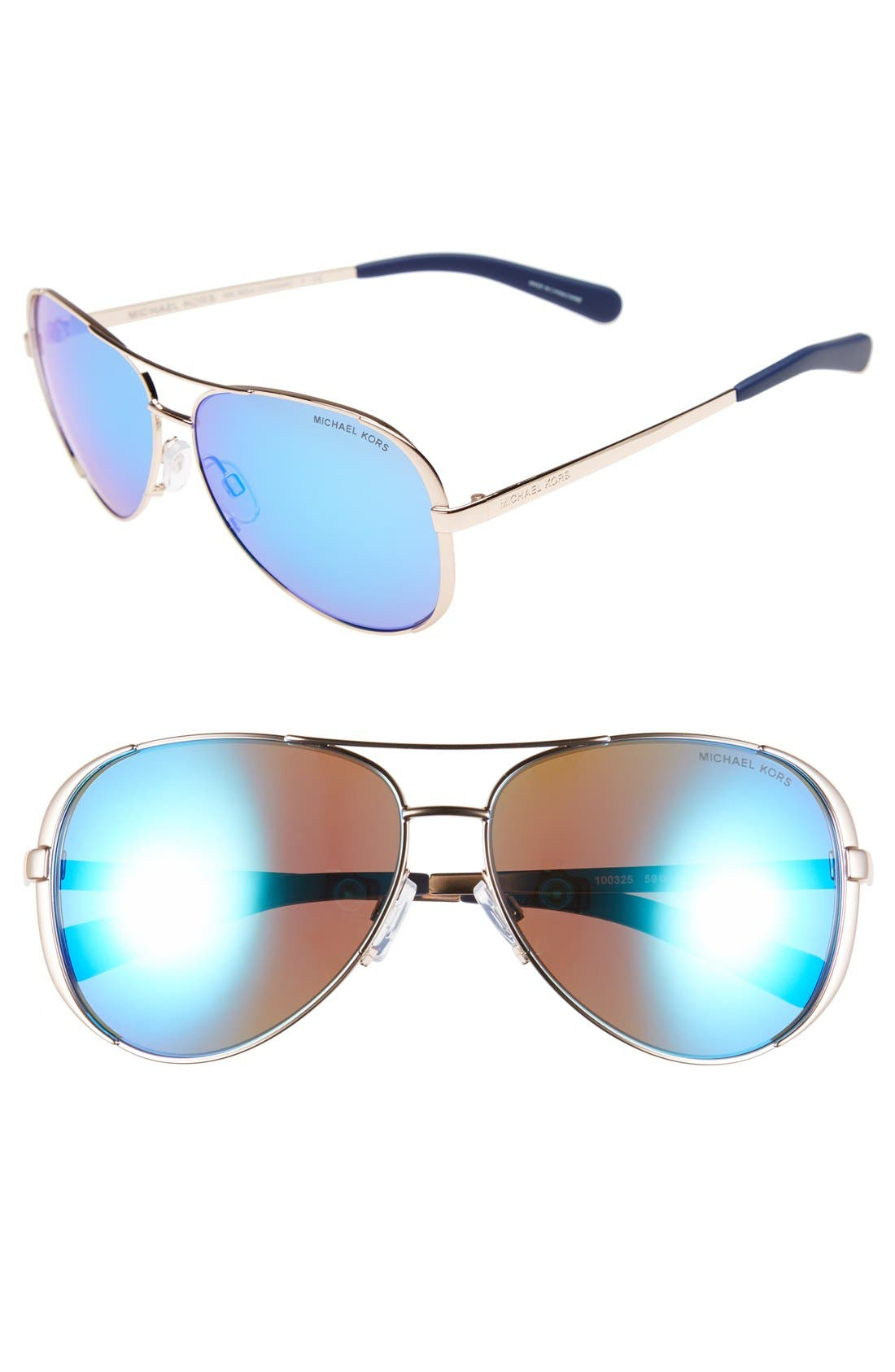 Alternate Image 1 Selected - Michael Kors Collection 59mm Aviator Sunglasses