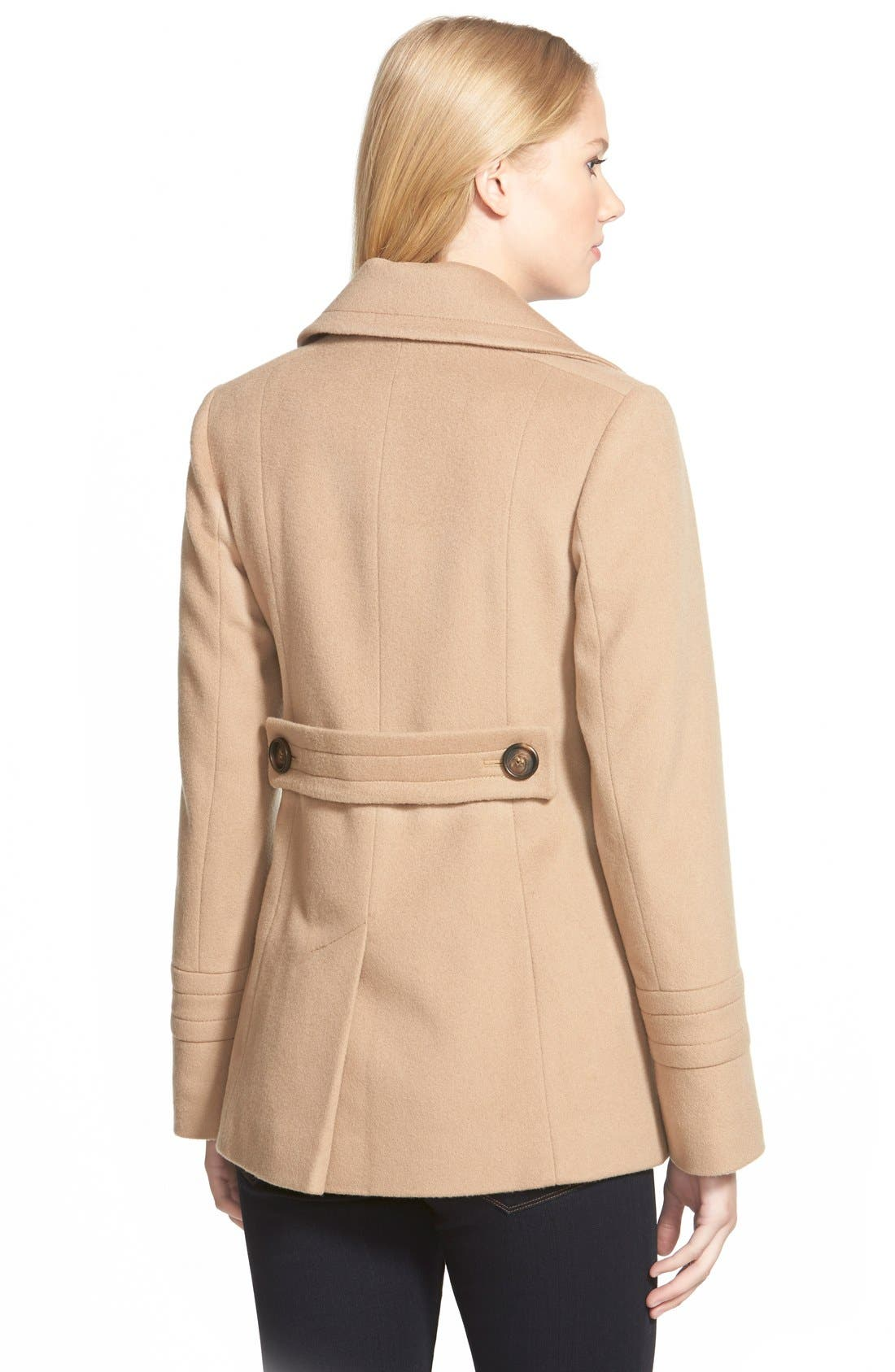Alternate Image 3  - Fleurette Wool Peacoat (Nordstrom Exclusive)