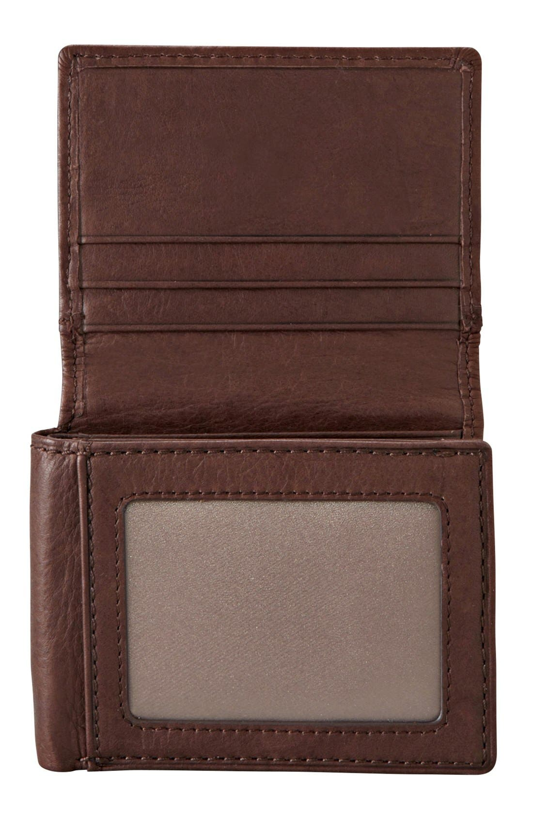 Alternate Image 2  - Fossil 'Ingram' Leather Flip Trifold Wallet