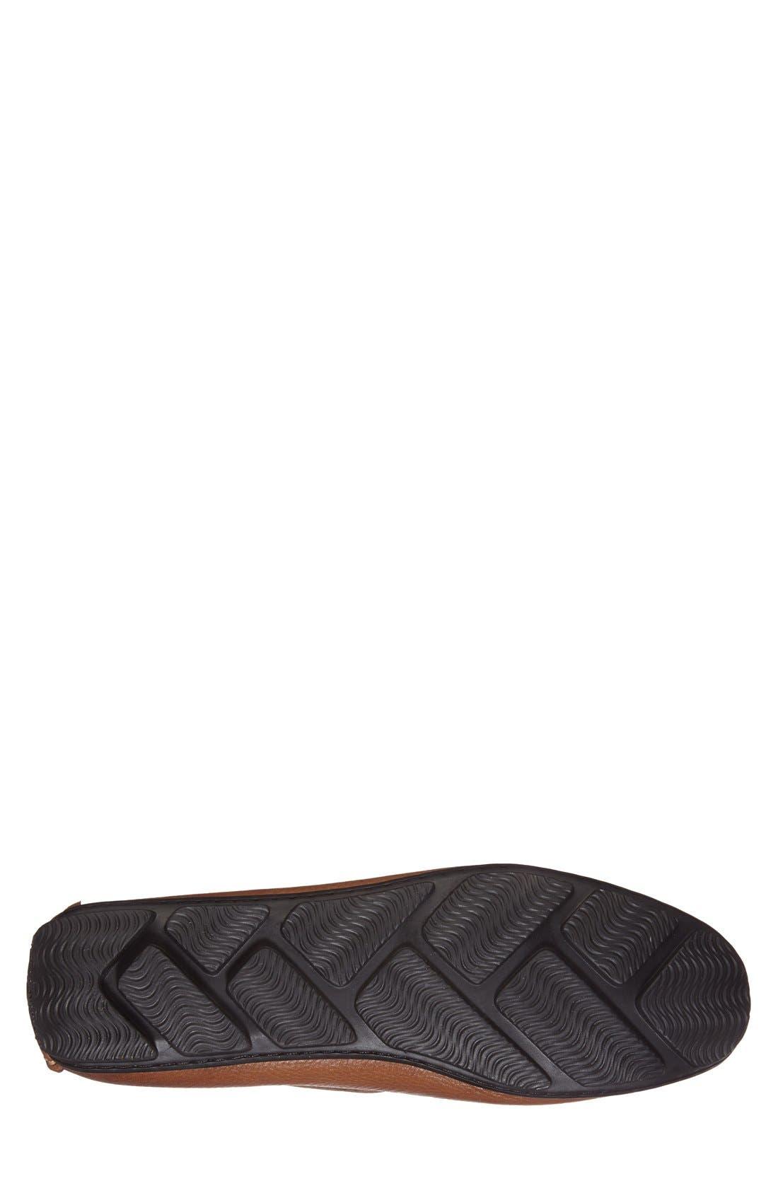Olinda Driver,                             Alternate thumbnail 4, color,                             Cognac Leather
