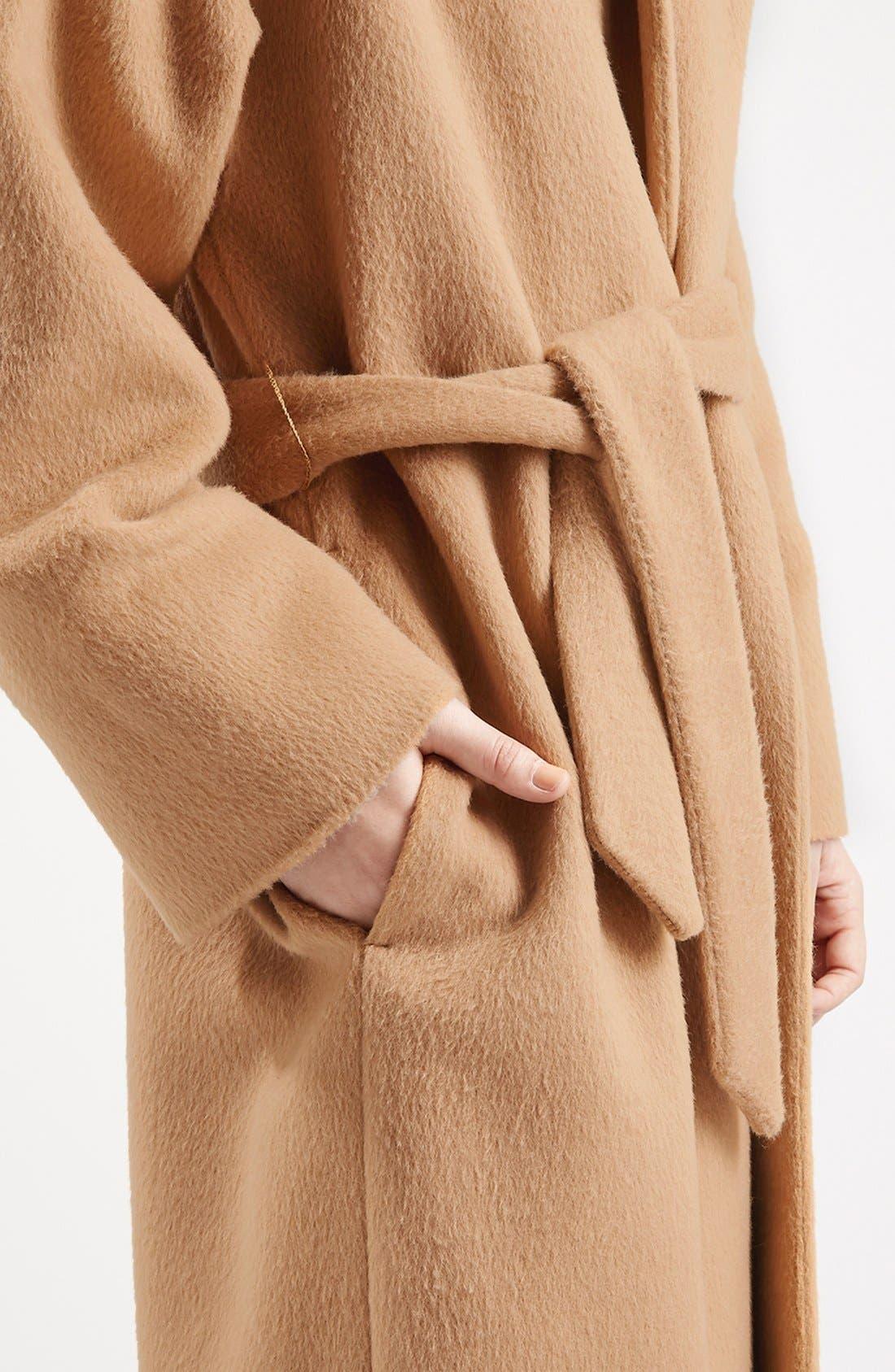 Alternate Image 5  - Topshop Long Belted Coat