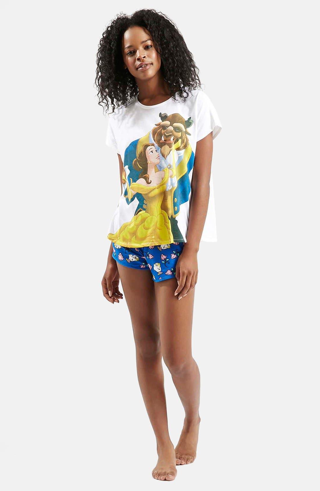 Alternate Image 4  - Topshop Beauty & The Beast Pajama Set
