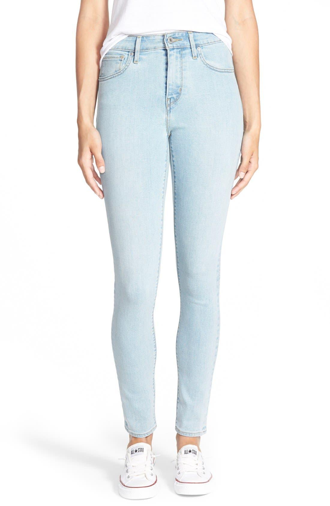 Alternate Image 1 Selected - Levi's® '721' High Rise Skinny Jeans (Light)