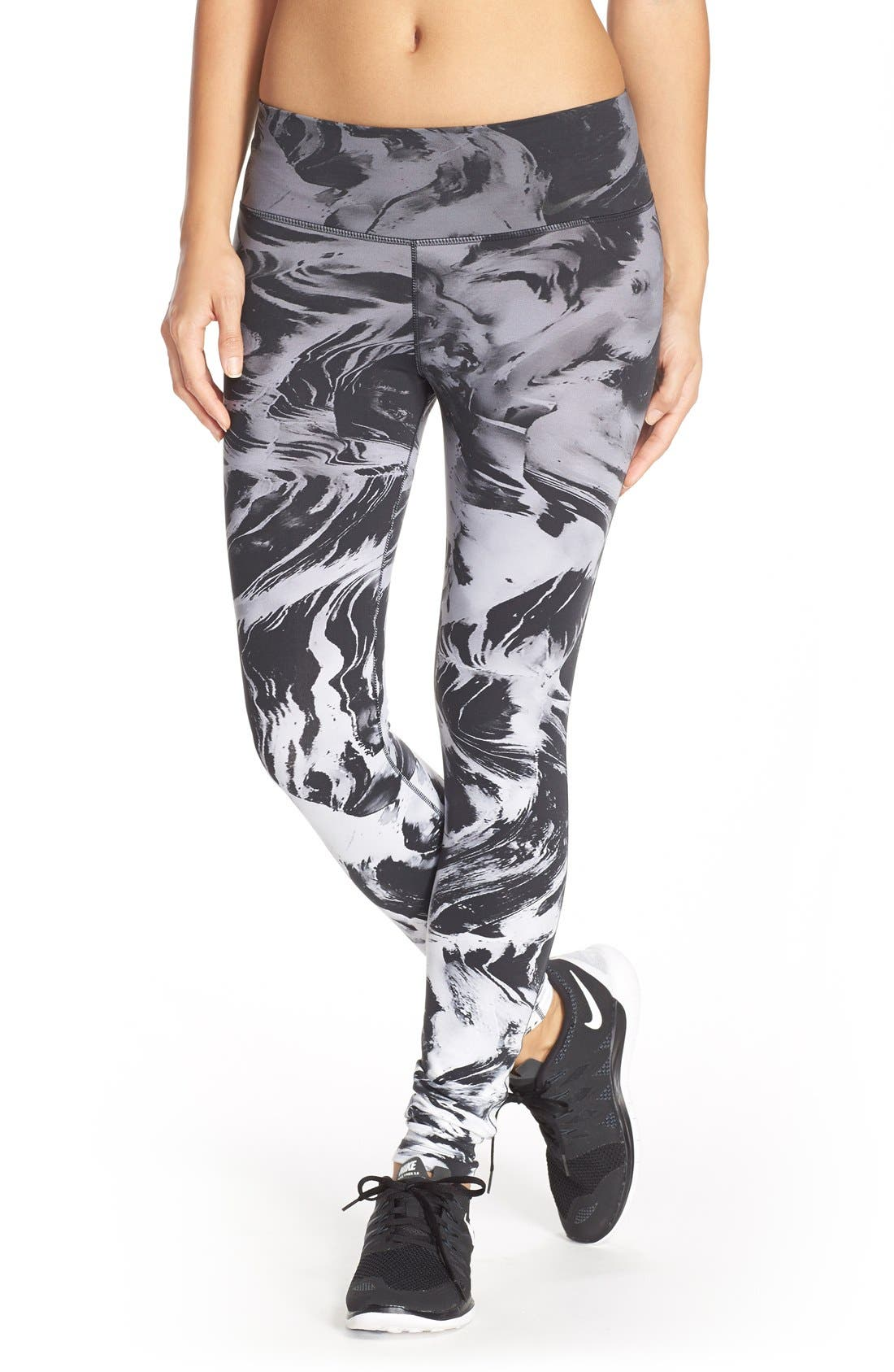 Alternate Image 1 Selected - Nike 'Legendary' Print Dri-FIT Tights