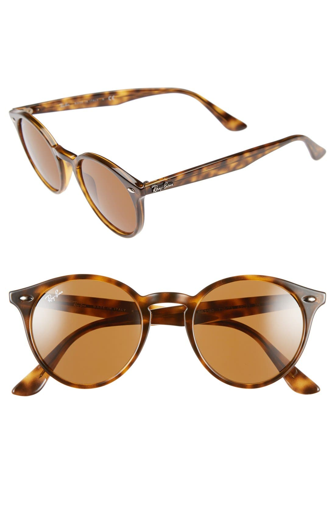 Ray-Ban 49mm Round Sunglasses