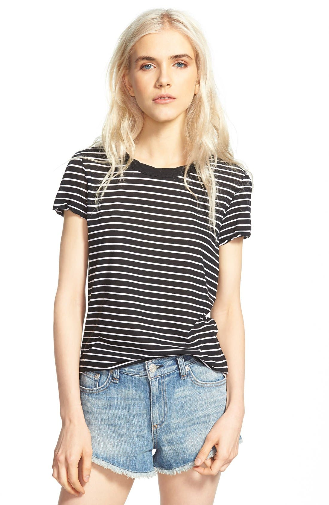 Alternate Image 1 Selected - James Perse Classic Stripe Tee