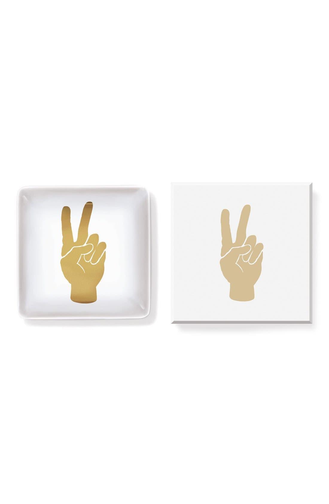 Alternate Image 2  - Fringe Studio 'Peace Hand' Ceramic Trinket Tray