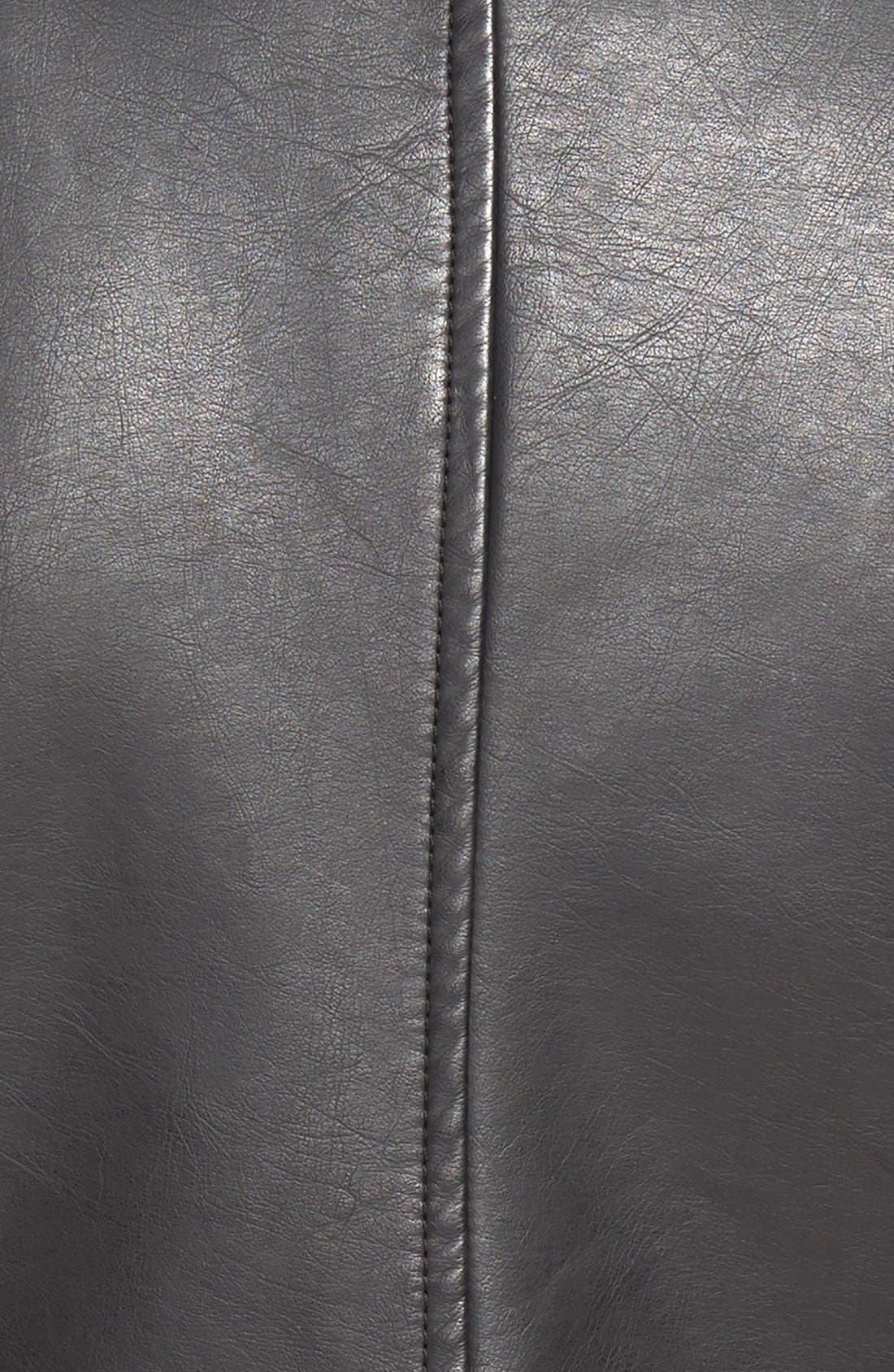 Alternate Image 3  - cupcakes and cashmere 'Union' Faux Leather Biker Jacket