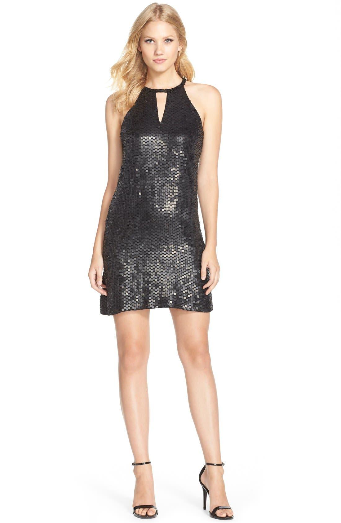Alternate Image 3  - Parker Black Embellished Silk Minidress