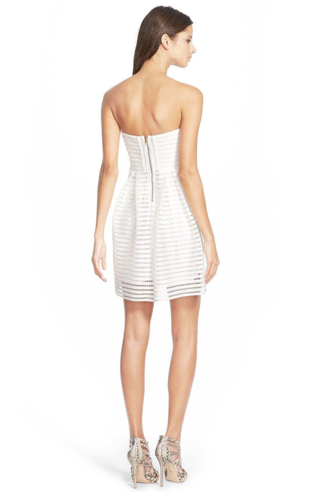 Alternate Image 2  - Missguided Strapless Skater Dress